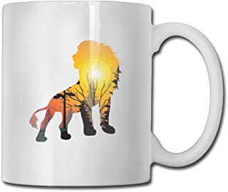 Lion Sunset Coffee Mugs 11 Oz Travel Gift Ceramic Tea Cup,Perfect Gift for Family and Friend