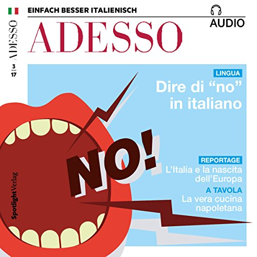 "ADESSO Audio - Dire di ""no"" in italiano. 3/2017 Titelbild"