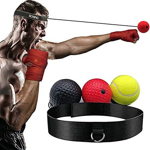 WJY Boxing Reflex Ball, Reflex Fightball Speed Ball mit Stirnband Boxen Training Ball Hand Augenreaktion und Koordination Boxausrüstung für Kinder, Erwachsene