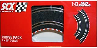 SCX Compact 1: 43 Scale 4-pc. Curved Curve Track Pack