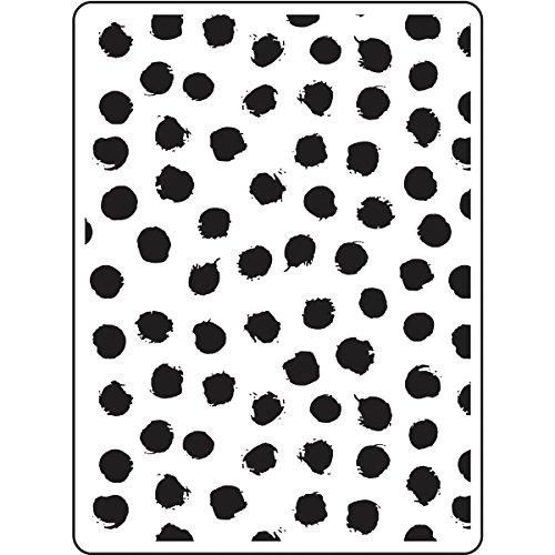 Darice Embossing Folder Prägefolder-Schablone, Punkte-Blot Dot-10,8 x 14,6 cm, Plastic, transparent, 10.8 x 14.6 x 0.11 cm
