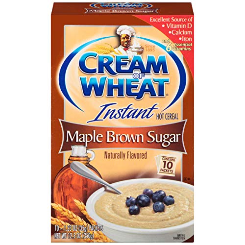 Cream of Wheat Instant Hot Cereal Maple Brown Sugar 1 Box of 10 Packets