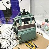 Damen Rucksack geräumig gestreifte Leinwand Mode Simple Style Girl School Tasche
