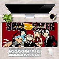 マウスパッドソウルイーターアニメXXLキーボードパッドマウスマットゲーミングラバー漫画コンピュータデスクマットコンピュータアクセサリー39.4 * 19.7 * 0.1in