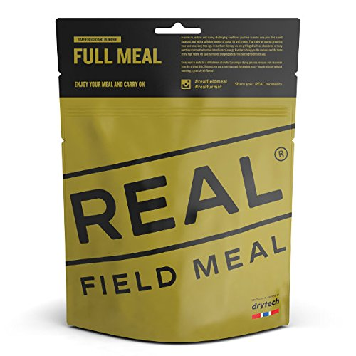 REAL FIELD MEAL Uso exterior – Alimento de expedición, comida de emergencia con 700 kcal (pollo Tikka Masala).