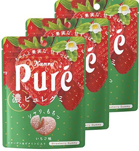 カンロ ピュレグミ濃いいちご 52g ×3個