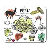 Egoa Mouse Pad Alfombrilla De Juego Inca De Símbolos Perú Cultura Típica Peruana Salpicaduras Color Abstracto Comida Alfombrilla De Ratón 25X30Cm