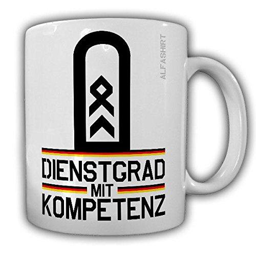 Tasse Stabsfeldwebel Dienstgrad Bundeswehr StFw Dienstgrad Militär Rangabzeichen Abzeichen Kaffee Becher #20662