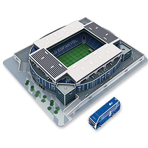 Aida Bz Sport Stadium 3D Model, Cornella Stadion Espanyol Barcelona Modell Fans Souvenir DIY Puzzle, 14' x 11,8' x 2'