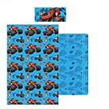 Nickelodeon - Juego Sábanas Blaze and the Monster Machines, para cama 90 cms.