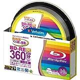 バーベイタムジャパン(Verbatim Japan) くり返し録画用 ブルーレイディスク BD-RE DL 50GB 10枚 ホワイトプリンタブル 片面2層 1-2倍速 VBE260NP10SV1 [並行輸入品]