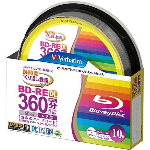 10 Verbatim Bluray Bd-re Dl 50 Gb Rewritable Blueray Original Spindle