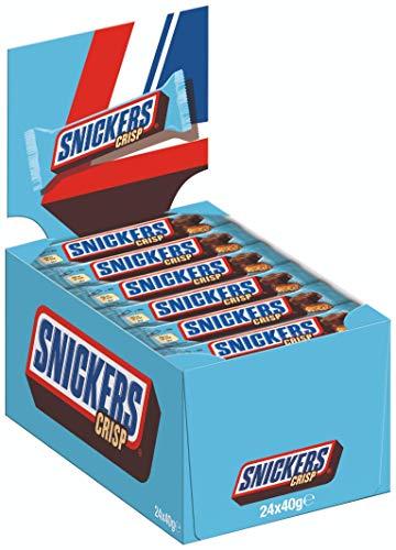 Snickers Schokoriegel | Crisp | 24 Riegel in einer Box (24 x 40 g)