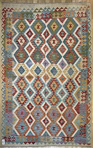 Alfombra oriental afgana hecha a mano Kilim de lana de colores naturales afganos turcos nómada persa tradicional persa 167 x 250 cm vintage corredor pasillo escalera reversible
