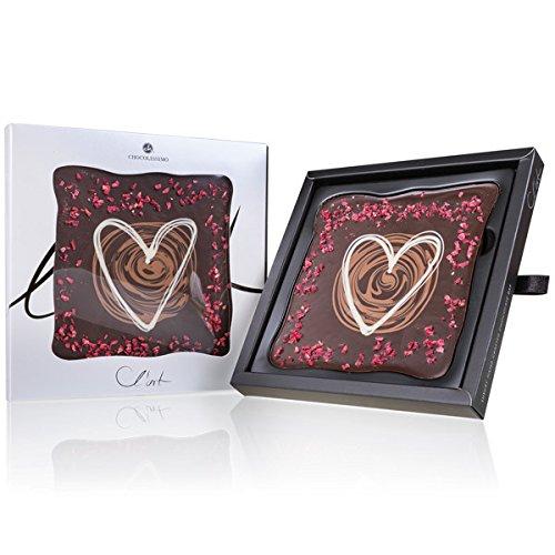 Schokoladentafel L´Art - Herz - Schokoladentafel mit Verzierungen - Schokolade - Geschenkidee - Geburtstagsgeschenk - Valentinstag - Weihnachten - Muttertag