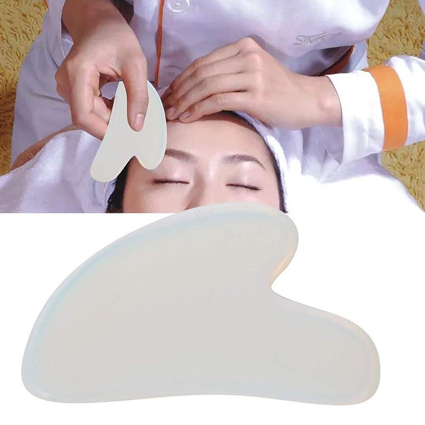 主権者騒々しいアリスGua Sha Board for Pain Relief、Natural Opal Scrapping Plate Body Guasha Board Face Massager Health Care Tool
