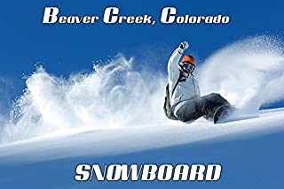 Snowboard Beaver Creek Colorado American Ski Winter Sport Vintage Poster Repro 12