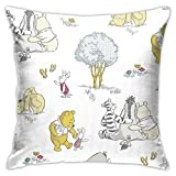 Throw Pillow Case Winnie The Pooh Pillow Cover Durable Square Pillow Exquisite Throw Cushion Cover Stylish Throw Cushion Case For Car Camping Hotel M