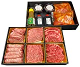 Osaka Tsuruhashi 6 kinds of yakiniku eating comparison 480g Yakiniku set Winter gift Year-end gift Yakiniku Hakuundai Refrigerated delivery