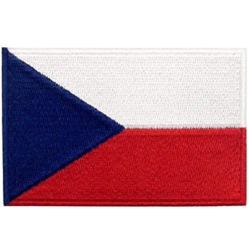 Bandera república checa Parche Bordado Aplicación