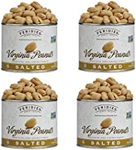 FERIDIES Salted Super Extra Large Virginia Peanuts 4 pack 9oz Tins GMO Free Kosher All Natural