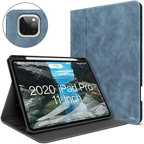 iPad Pro 11 Case - New 11-Inch 2nd Generation Case 2020 with Built-in Pencil Holder - Minimalist Folio Leather Smart Cover Auto Sleep/Wake [Supports Wireless Charging]