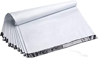 Fu Global 50pcs 24X24 Inches Poly Mailers Envelopes Shipping Bags Self Adhesive Waterproof Postal Bags (White)