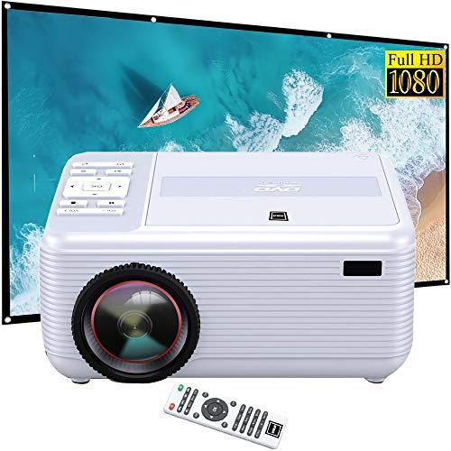 "RCA RPJ140 Bluetooth 1080p Full HD Projector with Built in DVD Player Bundle with 120"" Minolta 16:9 Indoor-Outdoor Screen"