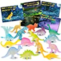 32PCS Kids Valentines Day Cards with Mini Luminous Dinosaurs, Toddler Valentines Gifts, Classroom Exchange Party Favors Toys, Cute Bulk Goodie Fillers for School Class Preschool Activities Boys Girls Age 3+ Years Old