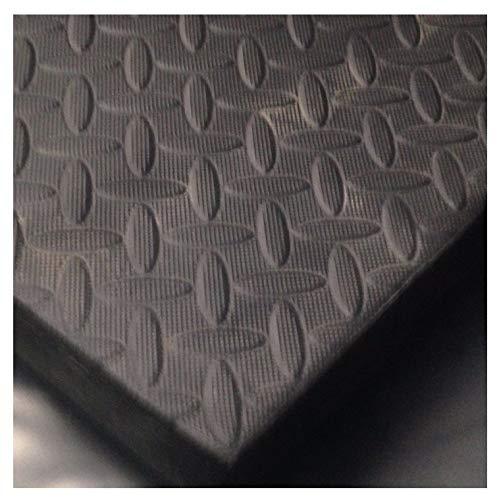 ARKMat Stallmatte, geeignet für Pferde, Ponys oder Vieh, EVA-Bodenbelag oder Wandmatten, auch geeignet für Fitnessstudios, stabil, 1,82x 1,22m, Schwarz