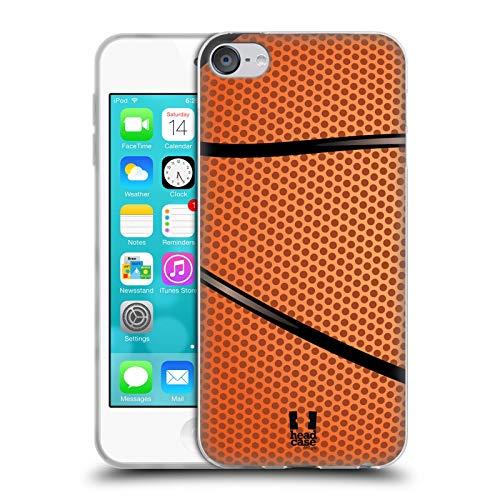 Head Case Designs Baloncesto Colección de Bolas Carcasa de Gel de Silicona Compatible con Apple Touch 6th Gen/Touch 7th Gen