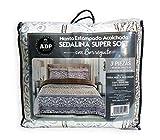 ADP Home - Conforter Sedalina Estampada Carol con Borreguito (240x220 CM) + 2 Fundas de Almohada con Volante (50x70 +5 CM)