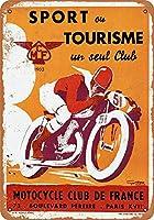 1935フランスのオートバイクラブ収集可能な壁の芸術ブリキ看板