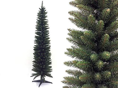 albero di natale slim 180 Megashopitalia Albero di Natale Slim Pino Verde 180CM Superfolto Realistico Apertura Ombrello 53cm Diametro (Verde)