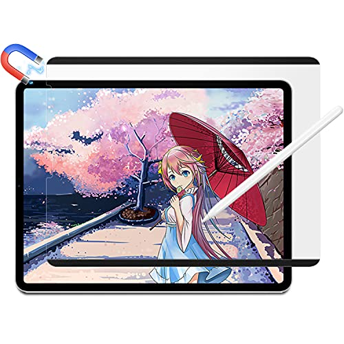 河村フィルムテック 着脱式 ペーパーライク フィルム iPad mini 6 用 保護フィルム アンチグレア 反射低減