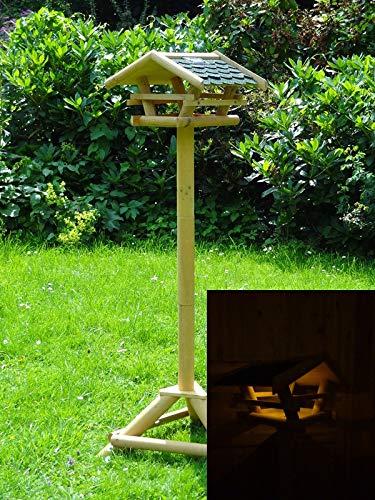 Vogelhaus Vogelfutterstation mit Ständer, Solar Led Beleuchtung - 3