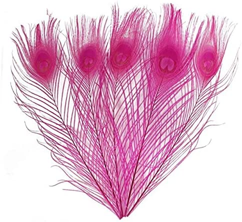 HARIKA - 100Pcs It is very popular lot Colored Feathers OFFicial store Dyeing Peacock White Lvory
