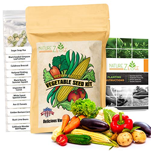 Heirloom Vegetable Seeds- 11 Varieties of Non-GMO Seeds for Planting