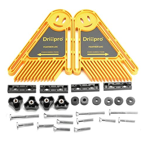 DRILLPRO Double Feather Loc Boards for Table Saws