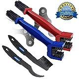 2 Pack Motorrad & Fahrrad Kettenreinigungsbürste Mountain Bike Reinigung Wartungswerkzeug Rot+Blau