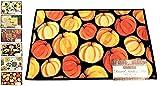 "Harvest Season Rug, Non-Skid Home, Kitchen, Floor Mat, Comfortable Standing and Entrance Rug, 17"" x 28"" (Pumpkin)"