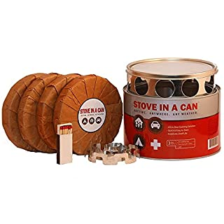 Stove In A Can - Portable Outdoor Camp / Cooking Kit - Perfect for Camping, Backpacking, Hunting, Tailgating, Emergency Survival, Food Storage (B004F1N7NM) | Amazon price tracker / tracking, Amazon price history charts, Amazon price watches, Amazon price drop alerts