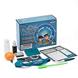 SWIFT Kinder Detektiv-Fingerabdruck-Kit, mit Miniatur-Lupe, Stempelkissen, Fingerabdruckpulver, Karten mit Verdächtigem Profil und vieles mehr