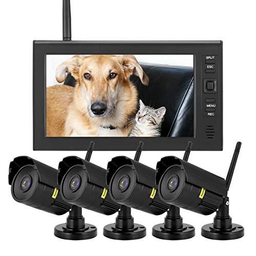 DAUERHAFT Sistema de cámara de Seguridad inalámbrico inalámbrico Digital de 4(American Standard (110-240V))
