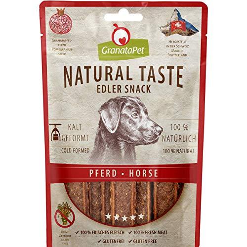 GranataPet Natural Taste Edler Snack Pferd, Hundeleckerli ohne Getreide & ohne Zuckerzusätze, Belohnung für zwischendurch, schmackhafter Hundesnack, 90 g