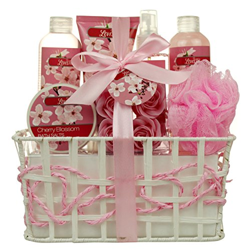 Bath and Body - Spa Gift Baskets for Women & Girls, Cherry...