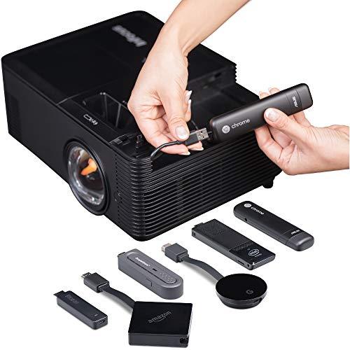 InFocus IN138HDST Kurzdistanzlinse, 16:9 Full HD 3D DLP-Projektor Beamer (1080p, 4000 ANSI Lumen, 28500:1 Kontrast, 3X HDMI, BrilliantColor) Schwarz