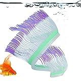 BITHEOUT Anémona de mar Artificial, Adornos de Acuario de Juguete de Peces Silicona de anémona de mar para Acuario(Purple)