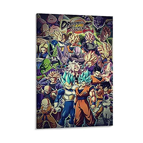 WERTQ Dragon Ball23 - Póster de lienzo (40 x 60 cm)
