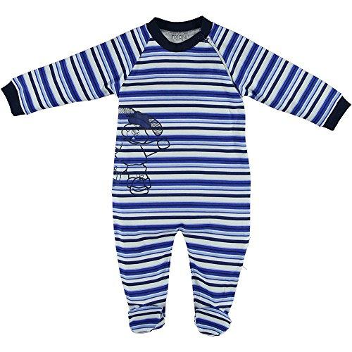 Schlafanzug gestreift blau Größe 62